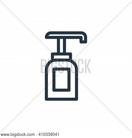 soap icon isolated on white background from coronavirus collection. soap icon thin line outline line