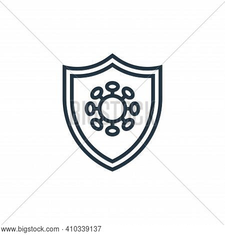 shield icon isolated on white background from pandemic novel virus collection. shield icon thin line