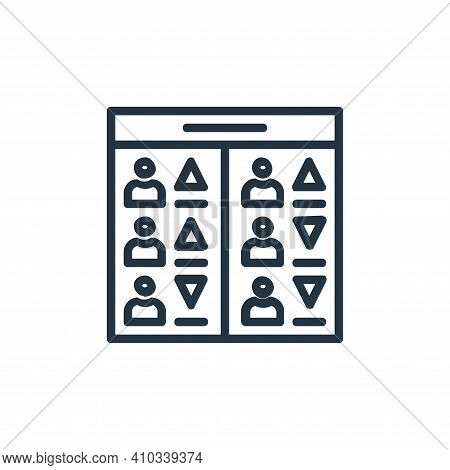 players icon isolated on white background from chess game collection. players icon thin line outline