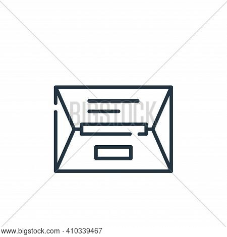 package icon isolated on white background from delivery collection. package icon thin line outline l