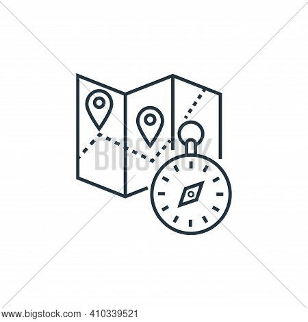 navigation icon isolated on white background from tourism collection. navigation icon thin line outl