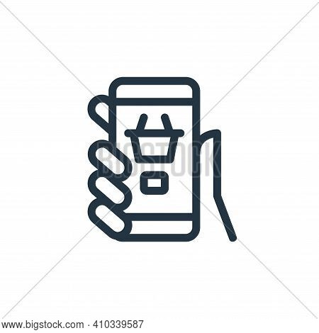 mobile shopping icon isolated on white background from ecommerce collection. mobile shopping icon th