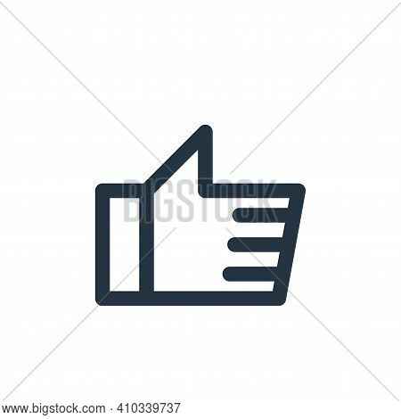 like icon isolated on white background from multimedia collection. like icon thin line outline linea