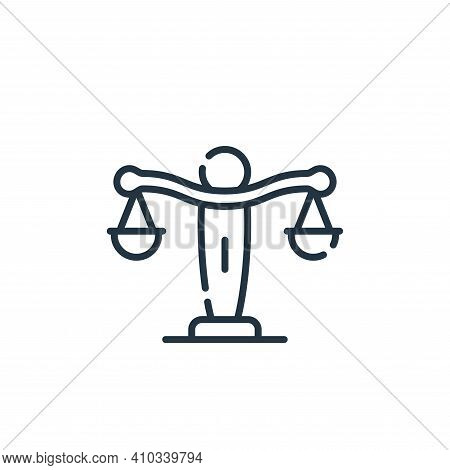 law icon isolated on white background from academy collection. law icon thin line outline linear law