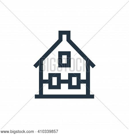 house icon isolated on white background from holland collection. house icon thin line outline linear