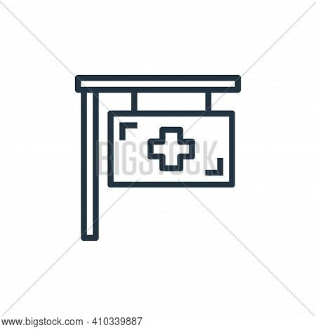hospital icon isolated on white background from hospital collection. hospital icon thin line outline