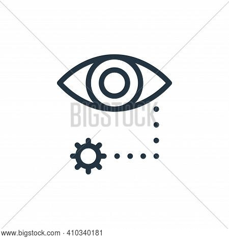 eye icon isolated on white background from coronavirus collection. eye icon thin line outline linear