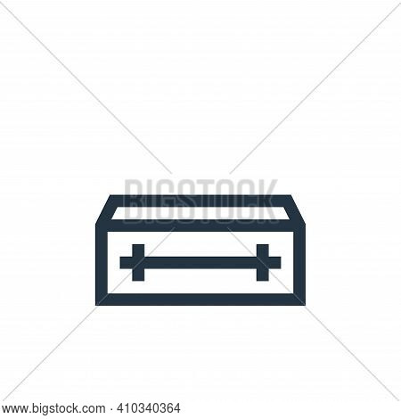 coffin icon isolated on white background from insurance collection. coffin icon thin line outline li