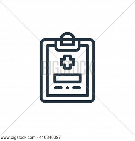 clipboard icon isolated on white background from medicine collection. clipboard icon thin line outli