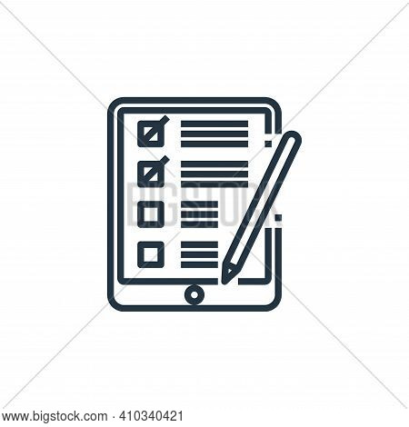 checklist icon isolated on white background from working from home collection. checklist icon thin l