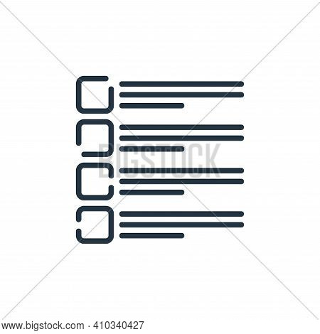 checklist icon isolated on white background from user interface collection. checklist icon thin line