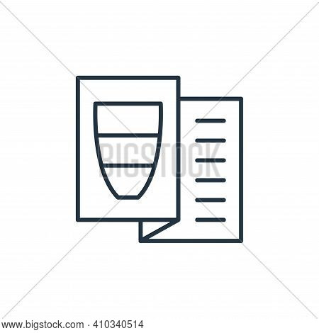 brochure icon isolated on white background from interiors collection. brochure icon thin line outlin