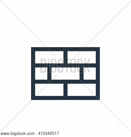bricks icon isolated on white background from video game elements collection. bricks icon thin line