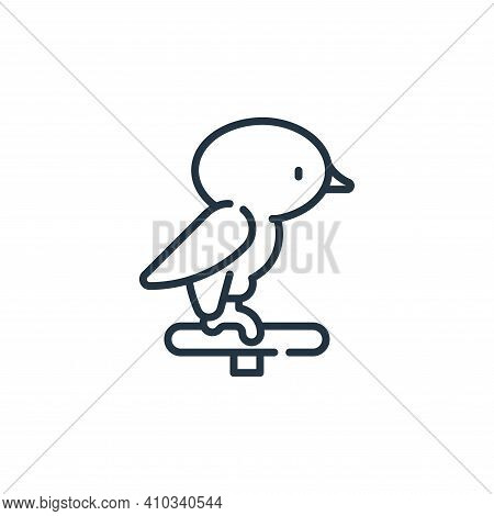 bird icon isolated on white background from pets collection. bird icon thin line outline linear bird