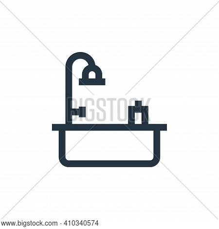 bath icon isolated on white background from mental health collection. bath icon thin line outline li