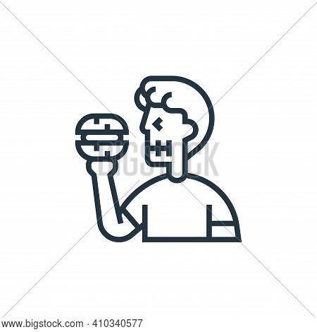 banned food icon isolated on white background from fitness collection. banned food icon thin line ou