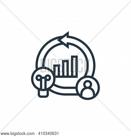 agile icon isolated on white background from digital transformation collection. agile icon thin line