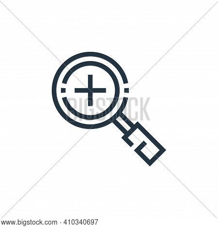 zoom in icon isolated on white background from web essentials collection. zoom in icon thin line out