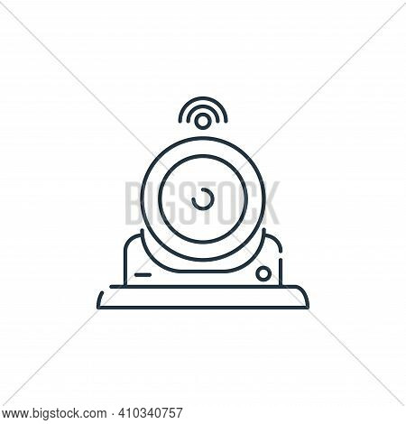 webcam icon isolated on white background from internet of things collection. webcam icon thin line o