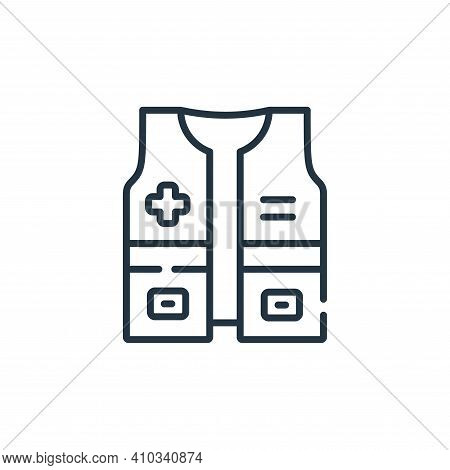 vest icon isolated on white background from kindness collection. vest icon thin line outline linear