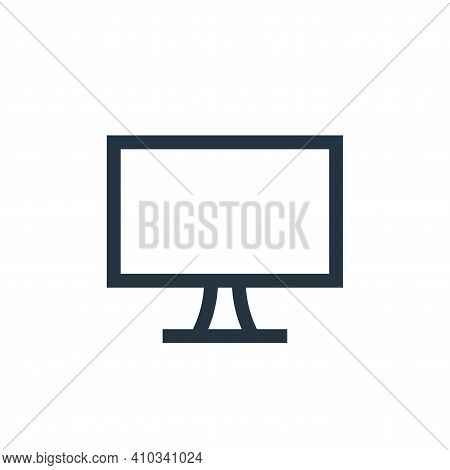 television icon isolated on white background from electronics collection. television icon thin line