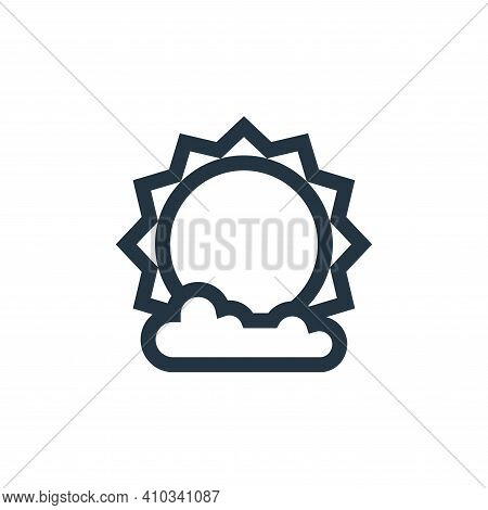 sun icon isolated on white background from ramadan collection. sun icon thin line outline linear sun