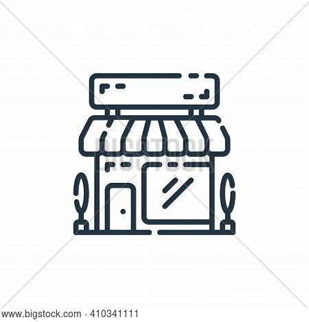 store icon isolated on white background from startup collection. store icon thin line outline linear