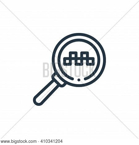 search icon isolated on white background from taxi service collection. search icon thin line outline