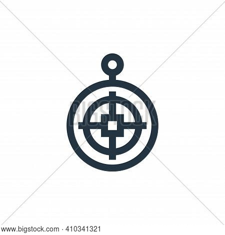 qibla icon isolated on white background from ramadan collection. qibla icon thin line outline linear