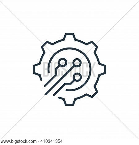 process icon isolated on white background from robotics collection. process icon thin line outline l