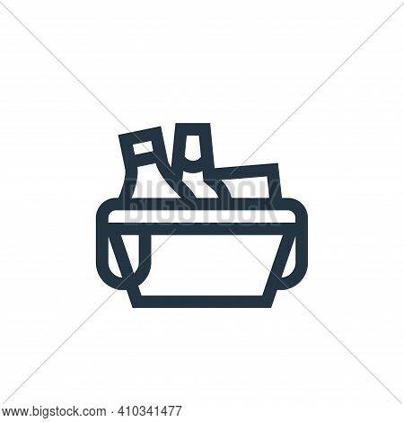 picnic basket icon isolated on white background from hobbies collection. picnic basket icon thin lin