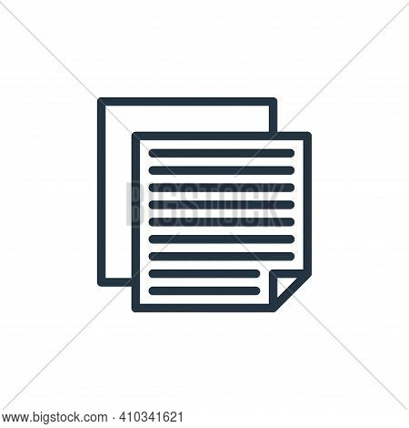 notes icon isolated on white background from school collection. notes icon thin line outline linear