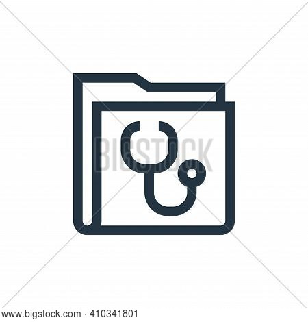 medical folder icon isolated on white background from pharmacy collection. medical folder icon thin