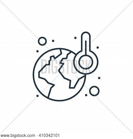 global warming icon isolated on white background from earth day collection. global warming icon thin