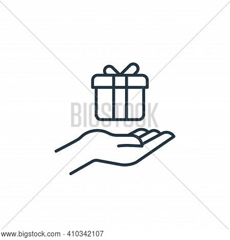 gift icon isolated on white background from casino collection. gift icon thin line outline linear gi