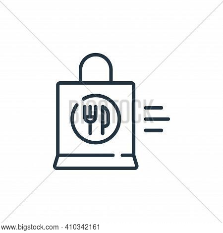 food delivery icon isolated on white background from delivery collection. food delivery icon thin li