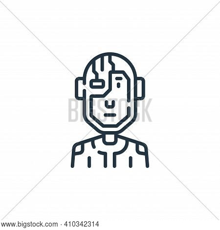 cyborg icon isolated on white background from fantastic characters collection. cyborg icon thin line