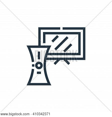console icon isolated on white background from inside home collection. console icon thin line outlin