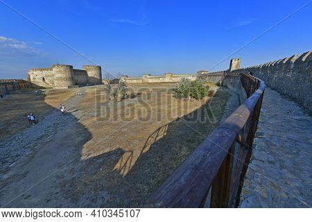 Ukraine, Belgorod-dnestrovsky 07/30/2020. Akkerman Fortress, Belgorod-dnestrovskaya Fortress - A Mon