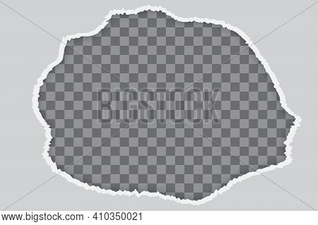 Abstract Hole For Paper Design. Paper Cut Style. Isolated Abstract Graphic Design Template. Stock Im