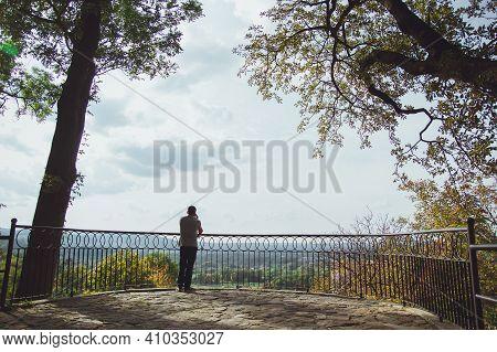 Przemysl, Poland - September, 2016: Beautiful Park In The Castle Of The City Of Przemysl On A Sunny