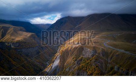 Beautiful Caucasus Mountains. Georgian Military Road. Caucasus Mountains