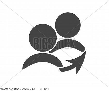 Referral Link Vector Icon On White Isolated Background.