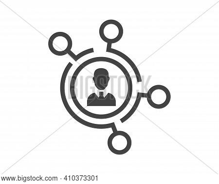 Referral Link Vector Icon On White Isolated Background. Layers Grouped For Easy Editing Illustration