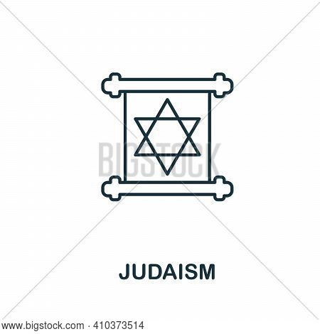 Judaism Icon. Simple Element From Religion Collection. Creative Judaism Icon For Web Design, Templat