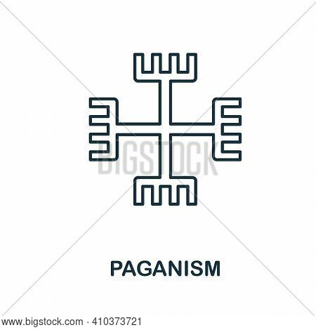 Paganism Icon. Simple Element From Religion Collection. Creative Paganism Icon For Web Design, Templ