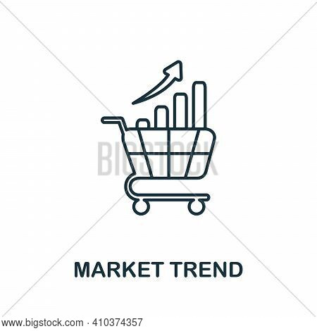 Market Trend Icon. Simple Element From Risk Management Collection. Creative Market Trend Icon For We