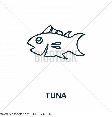 Tuna Icon. Simple Illustration From Seafood Collection. Creative Tuna Icon For Web Design, Templates