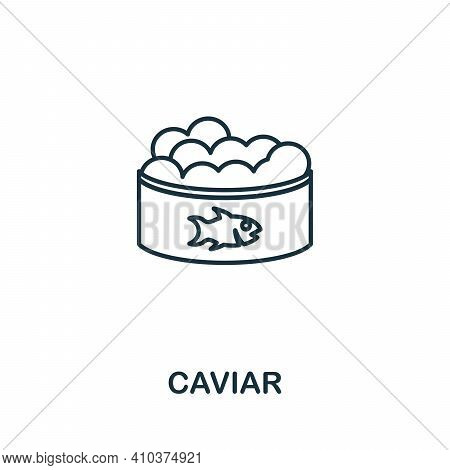 Caviar Icon. Simple Illustration From Seafood Collection. Creative Caviar Icon For Web Design, Templ