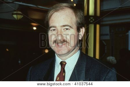 BLACKPOOL, ENGLAND - OCTOBER 10: Christopher Beazley, Conservative Member of the European Parliament for Cornwall & Plymouth, attends the party conference on October 10, 1989 in Blackpool, Lancashire.